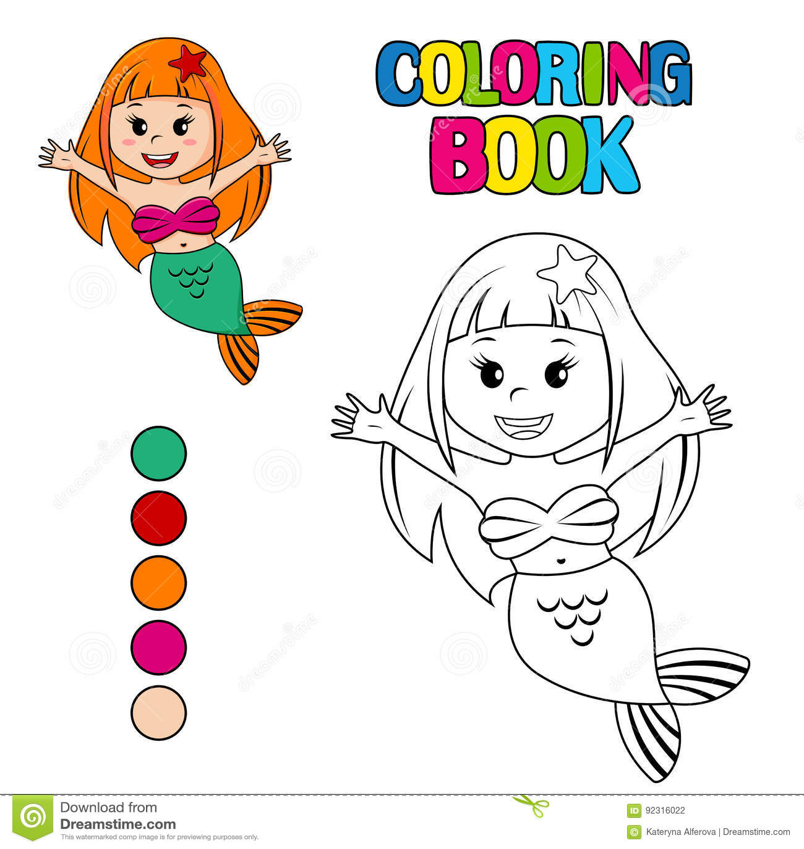 Perfecto Libro De Colorear Sirena Galería - Dibujos Para Colorear En ...
