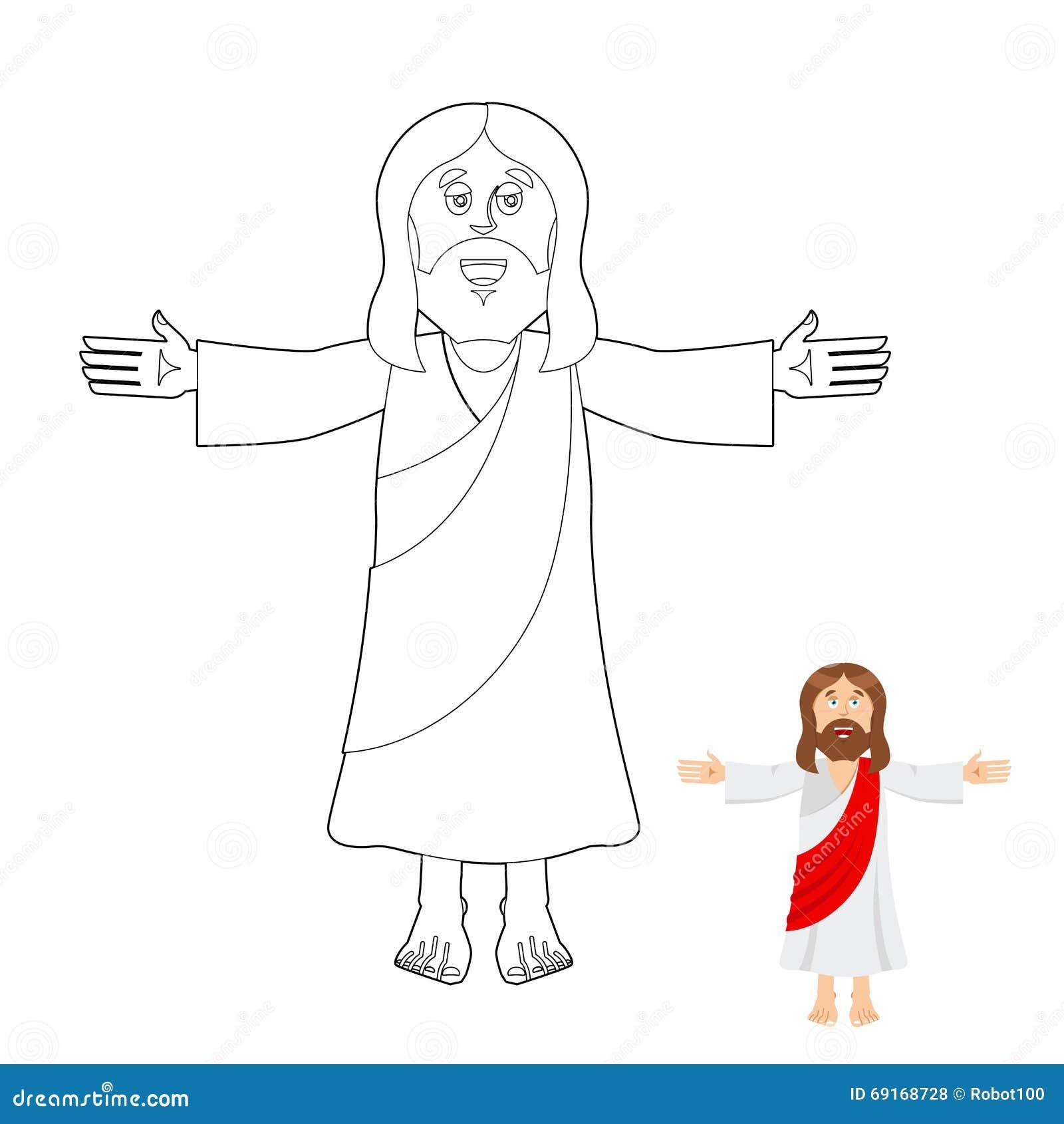 Libro De Colorear De Jesús Dibujo Del Jesucristo Para Los Niños B ...