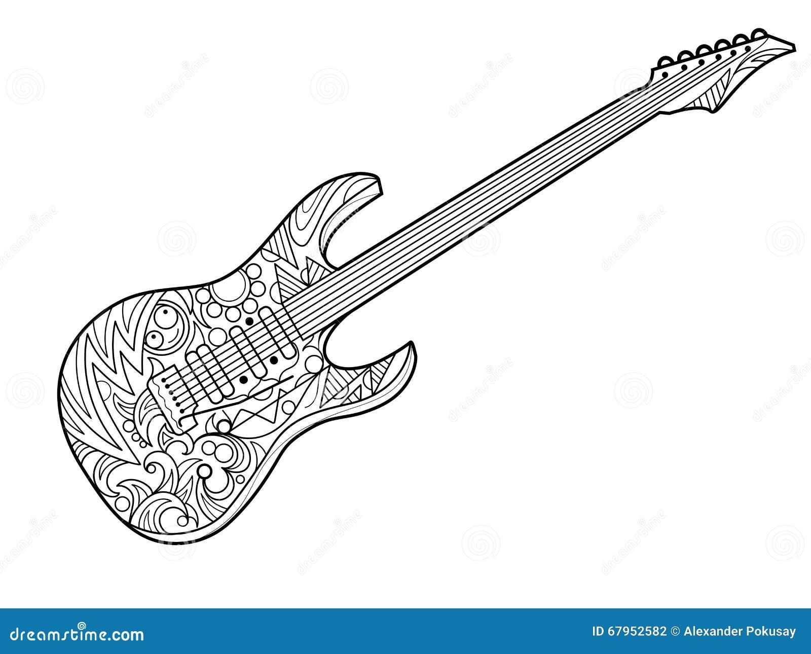 Encantador Colorear Guitarra De Rock Regalo - Dibujos Para Colorear ...