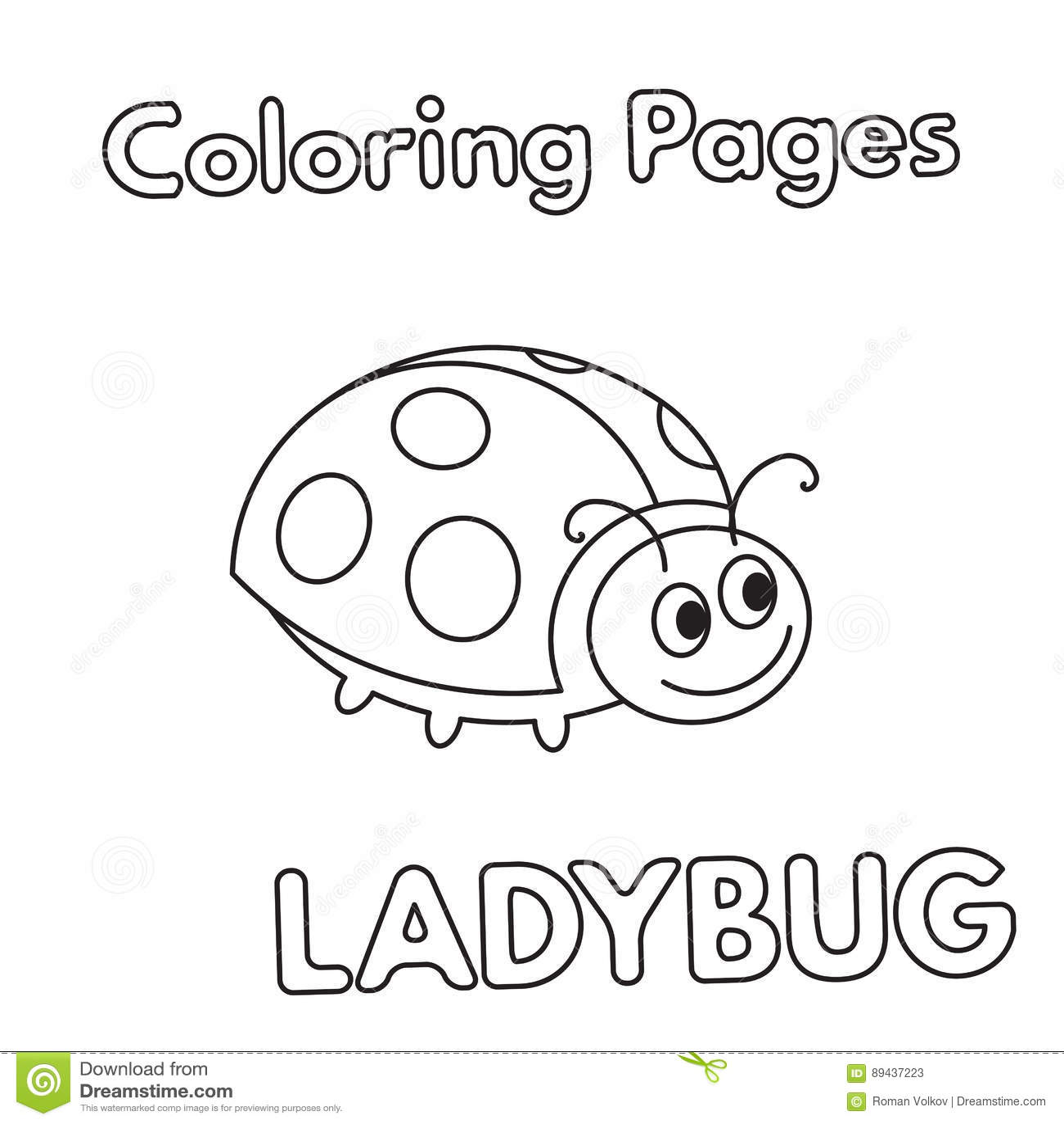 Encantador Libro De Colorear De Mariquita Regalo - Dibujos de ...