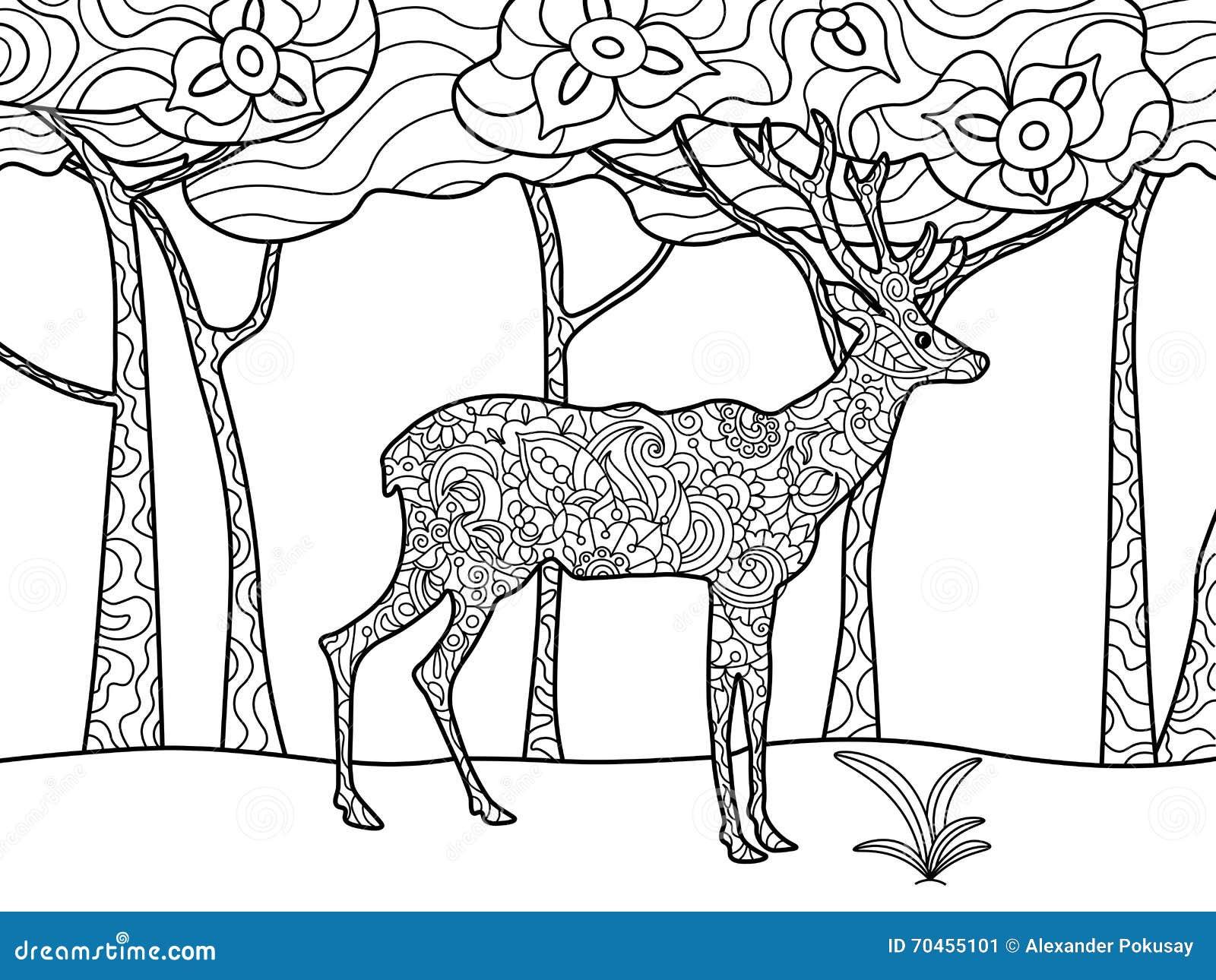 Moderno Dibujos Para Colorear De La Caza De Ciervos Motivo - Dibujos ...