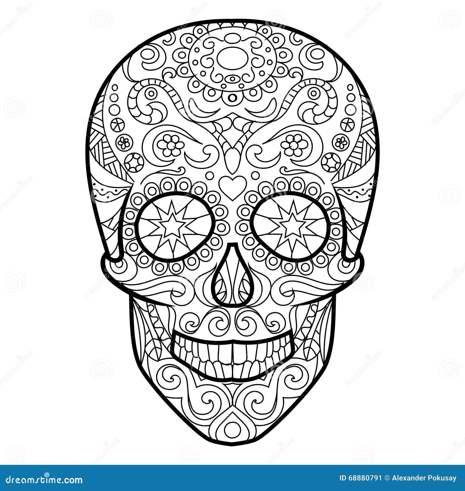Moderno Cráneos Para Colorear Páginas Para Imprimir Imágenes ...