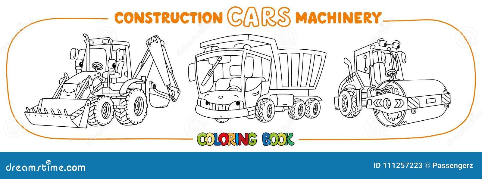 Libro De Colorear Del Transporte De La Maquinaria De Construcción ...