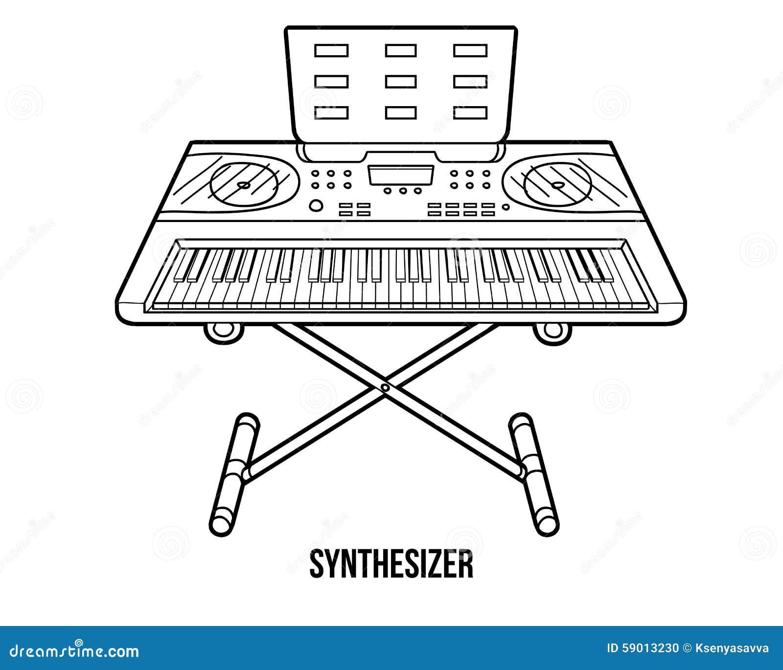 Único Instrumento De Música Para Colorear Embellecimiento - Dibujos ...