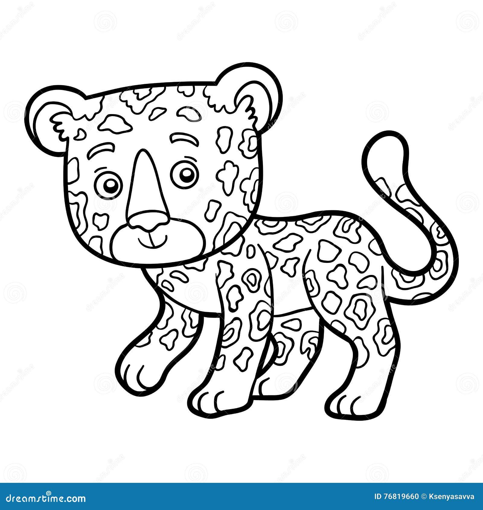 Libro De Colorear Jaguar Ilustración Del Vector Ilustración De