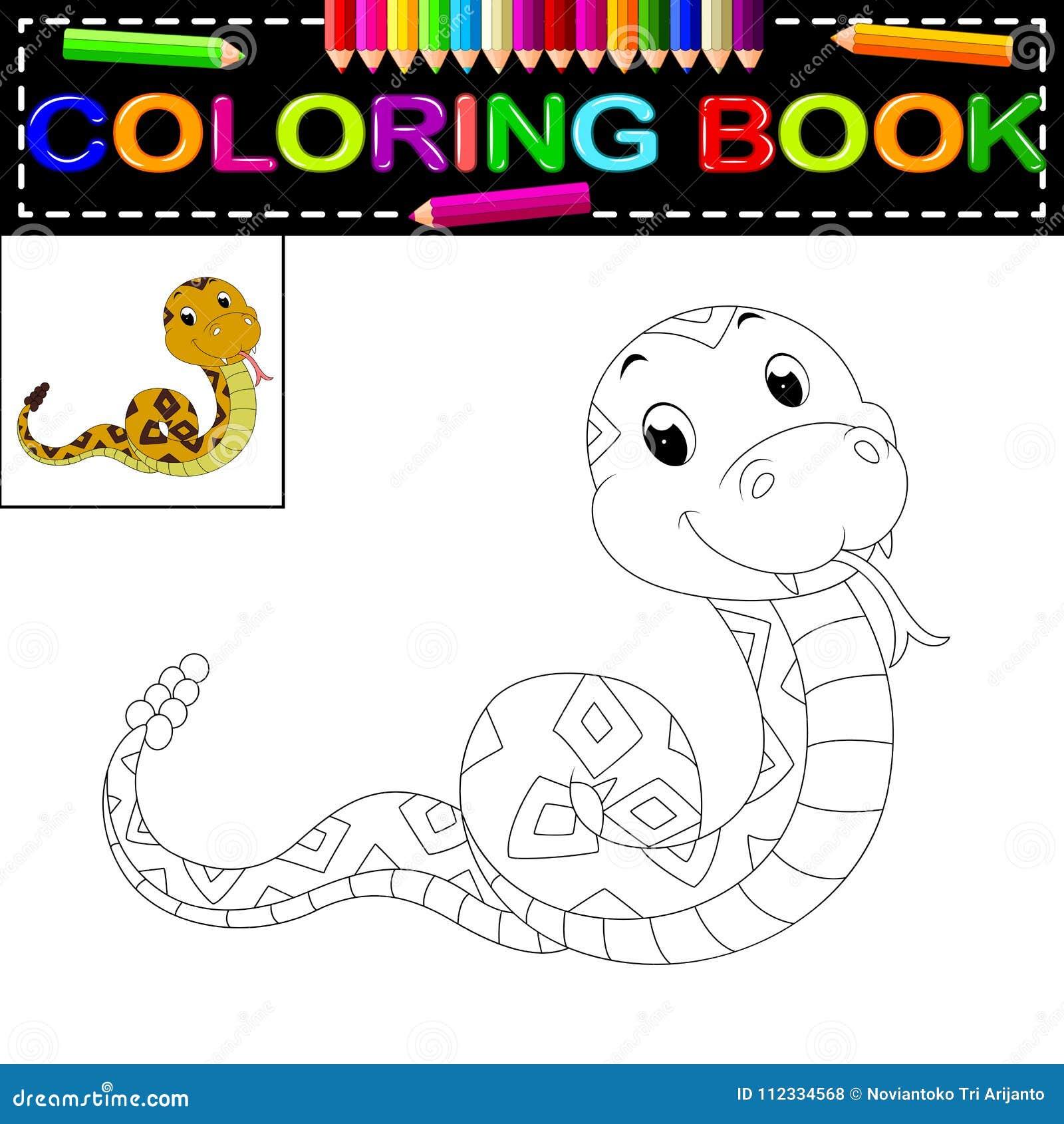 Libro de colorear de la serpiente