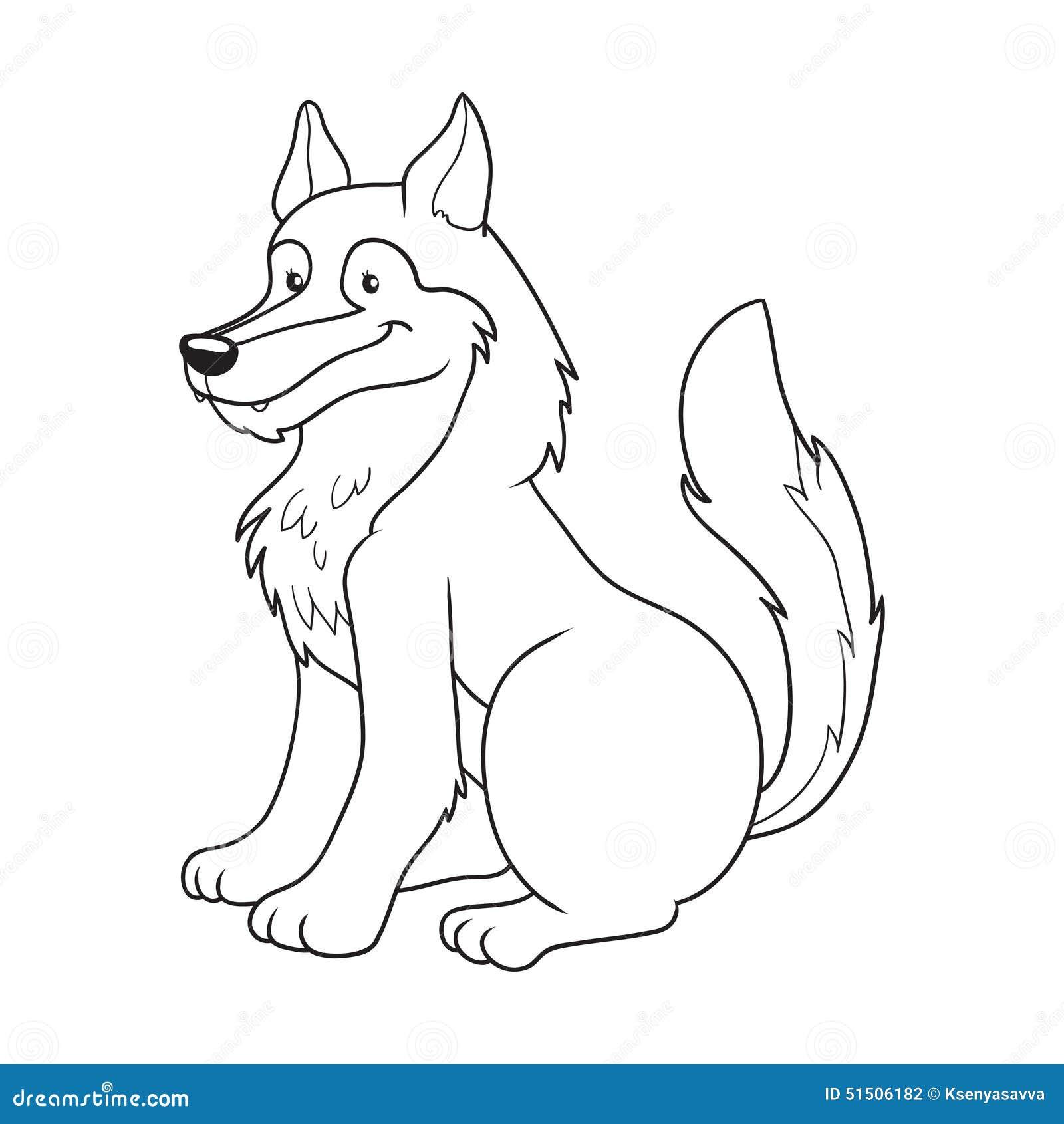 Libro de colorear (lobo) ilustración del vector. Ilustración de ...