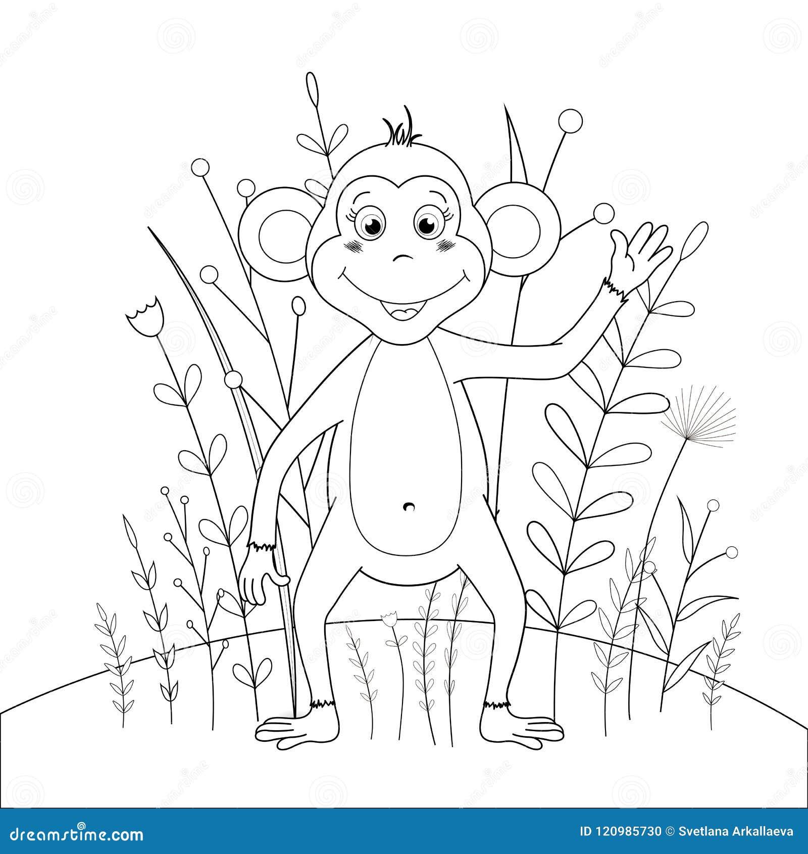 Libro De Colorear De Los Niños S Con Los Animales De La Historieta