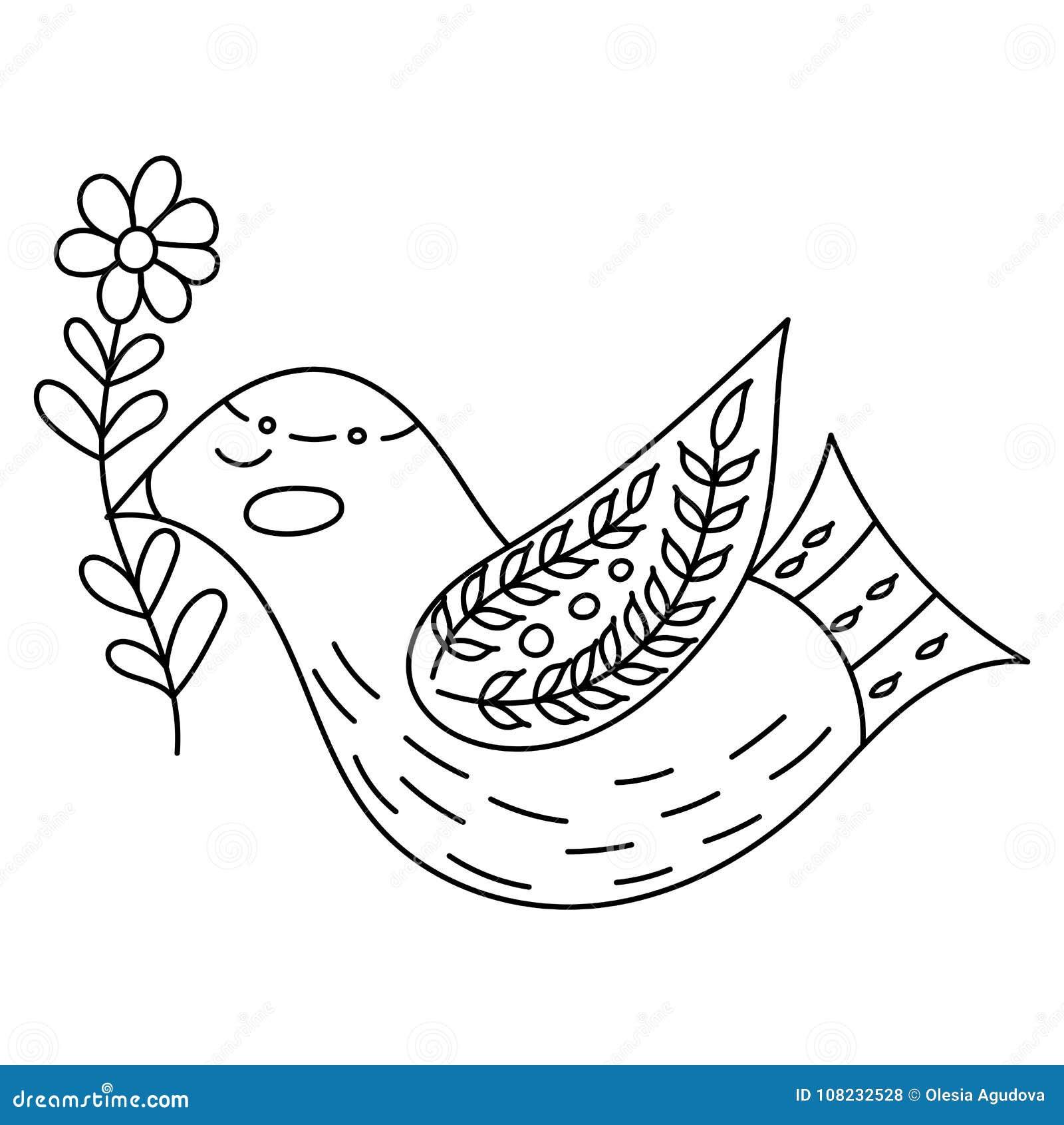 Lujo Páginas Para Colorear De Flores Y Pájaros Adorno - Enmarcado ...