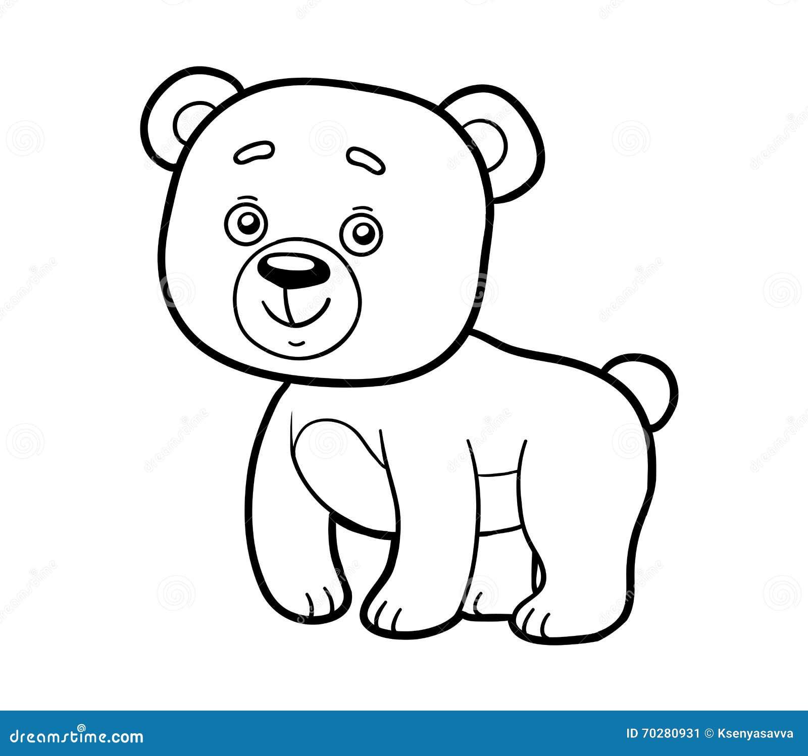 Libro De Colorear, Página Que Colorea (oso) Ilustración del Vector ...
