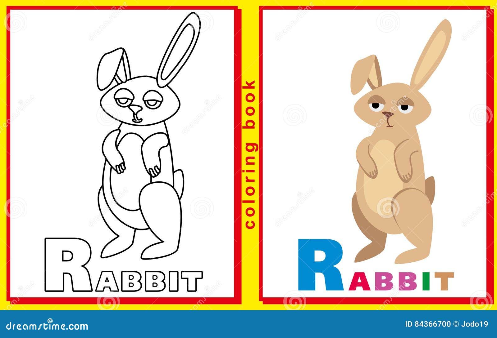 Libro De Colorear Para Los Niños Con Las Letras Y Las Palabras