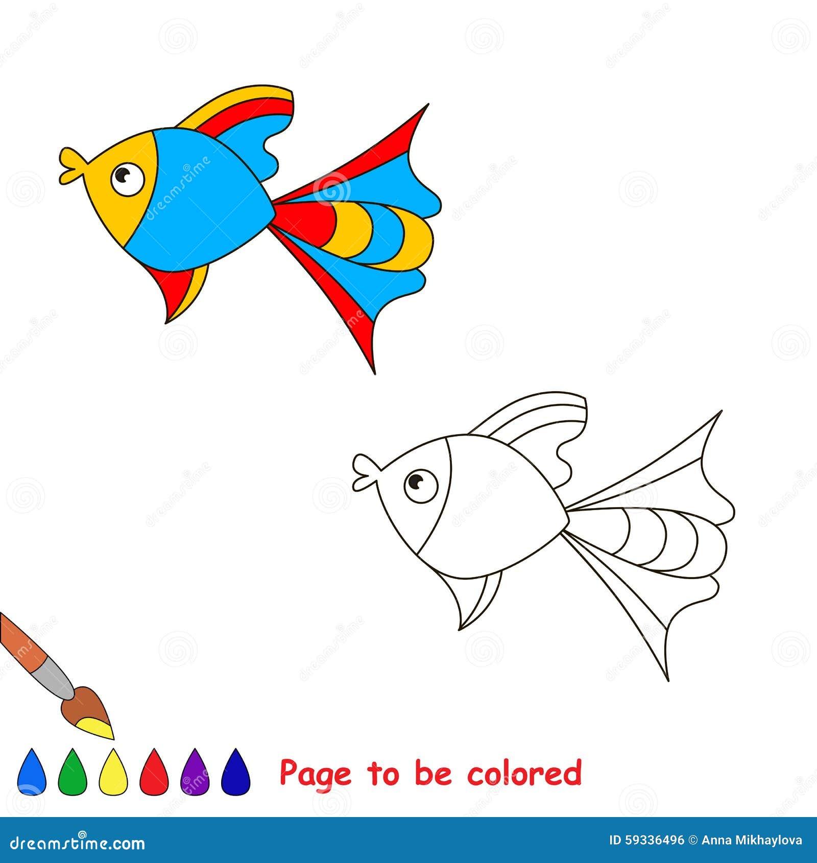 Libro De Colorear Para Los Niños Página A Ser Color Ilustración del ...