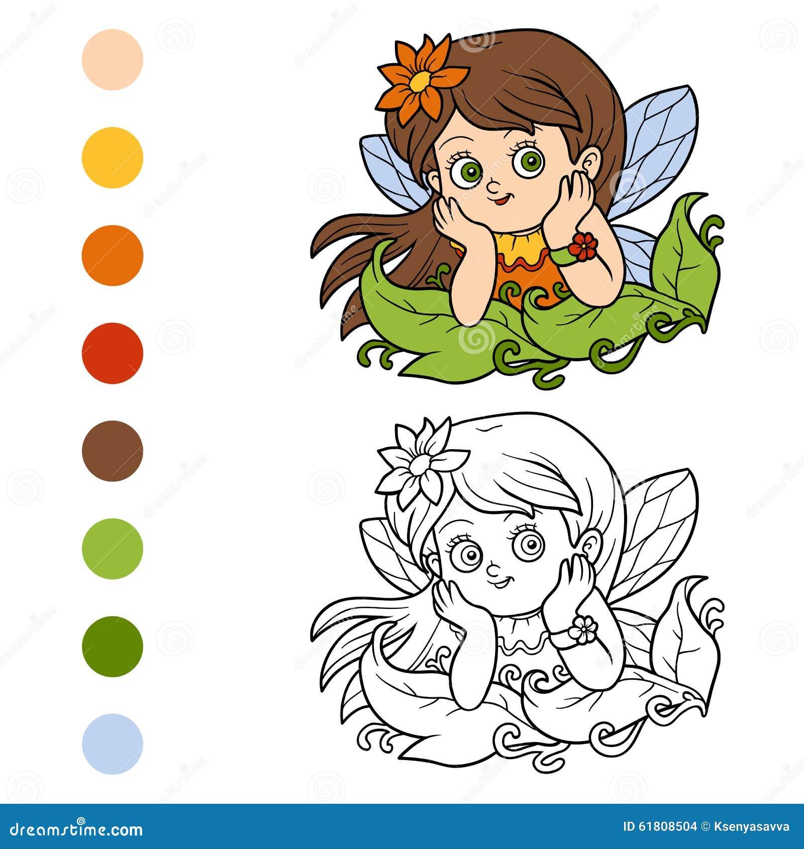 Libro de colorear para los niños: pequeña hada