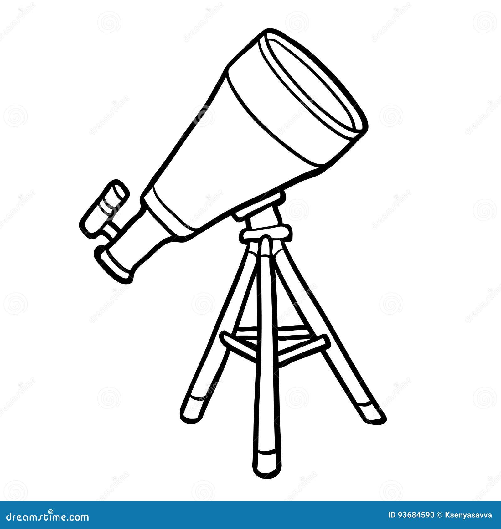 Libro de colorear, telescopio