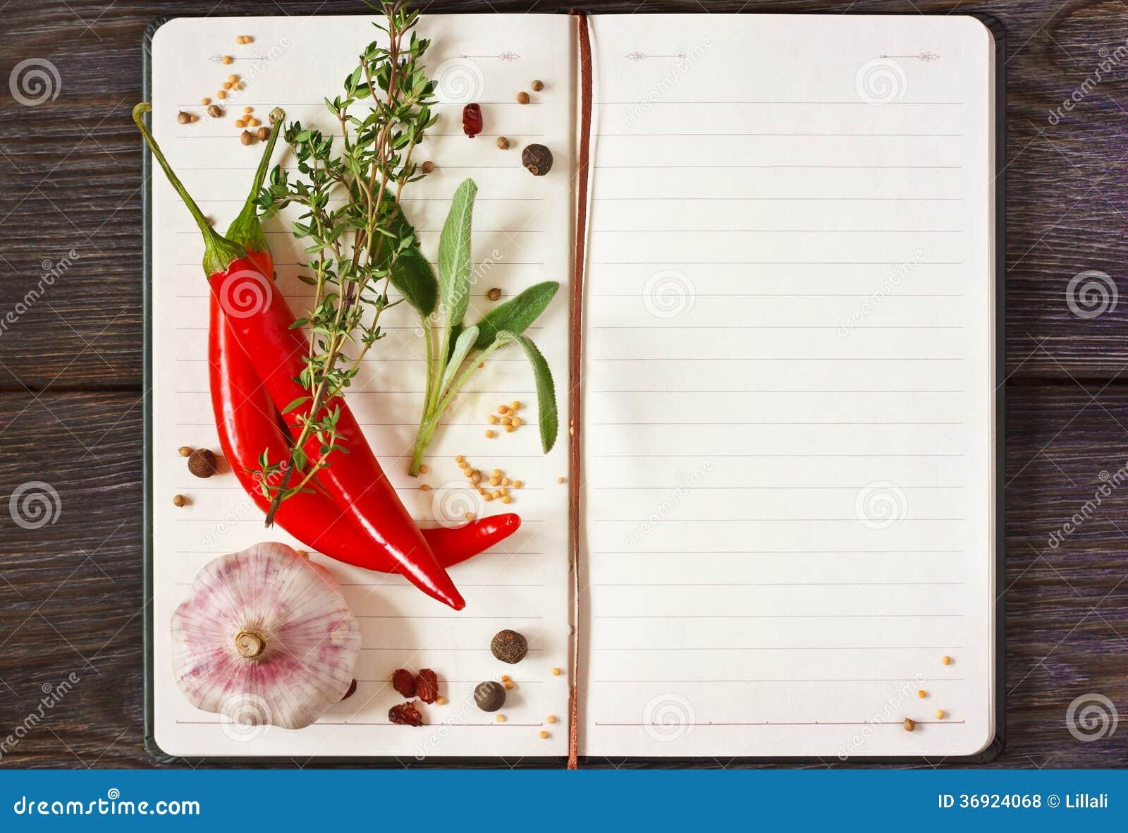 Libro de la receta.