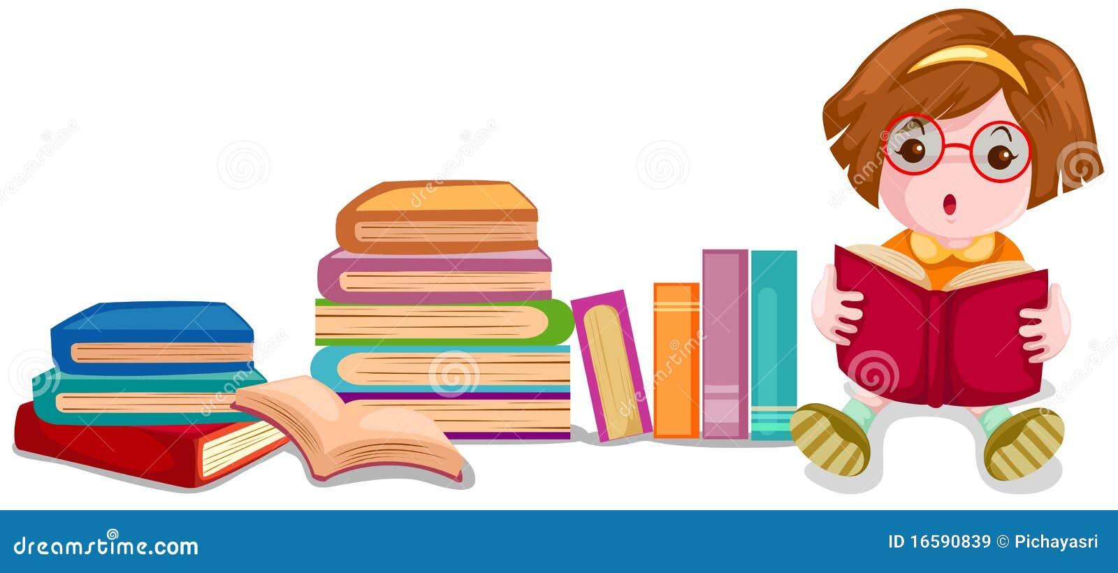 Libro de lectura lindo de la muchacha
