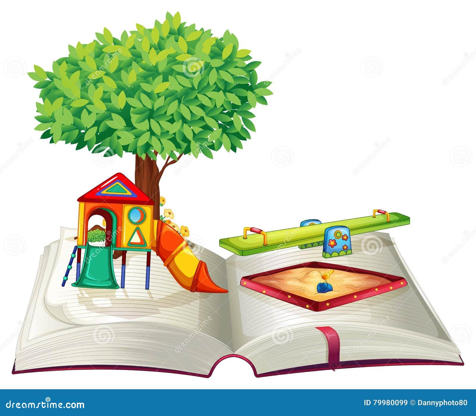 Libro del patio en parque