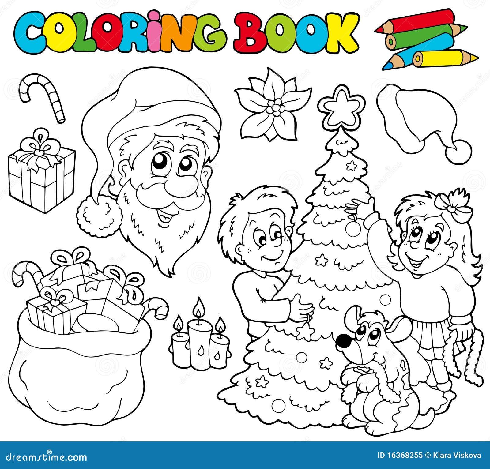 Libro di coloritura con il tema di natale