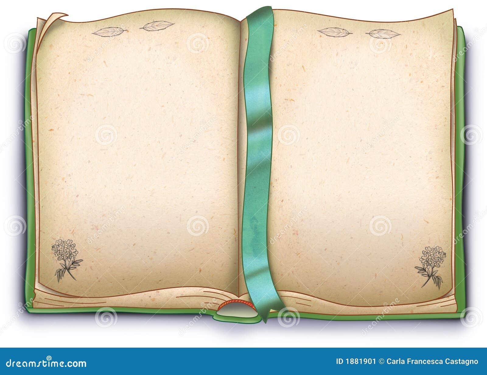Libro di erbe vuoto illustrazione illustrazione for Foto di un libro