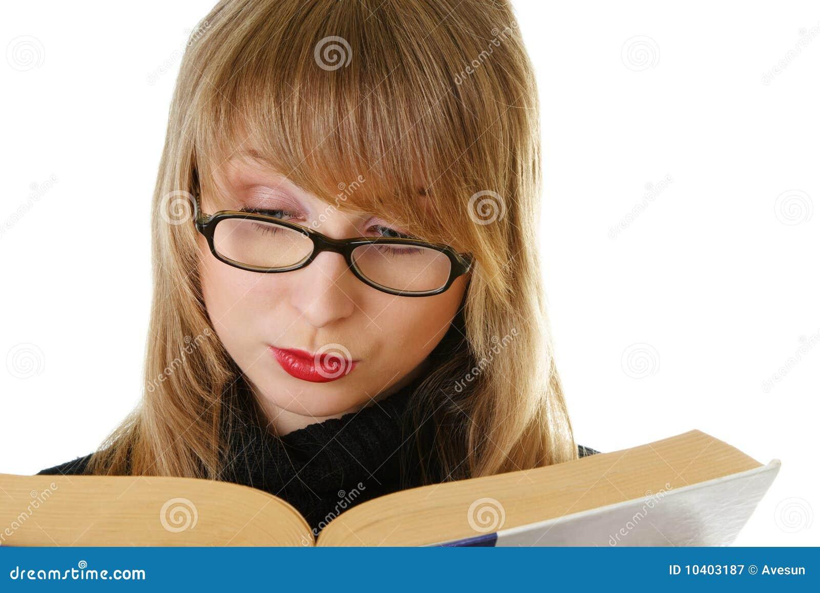 Libro di lettura della giovane donna