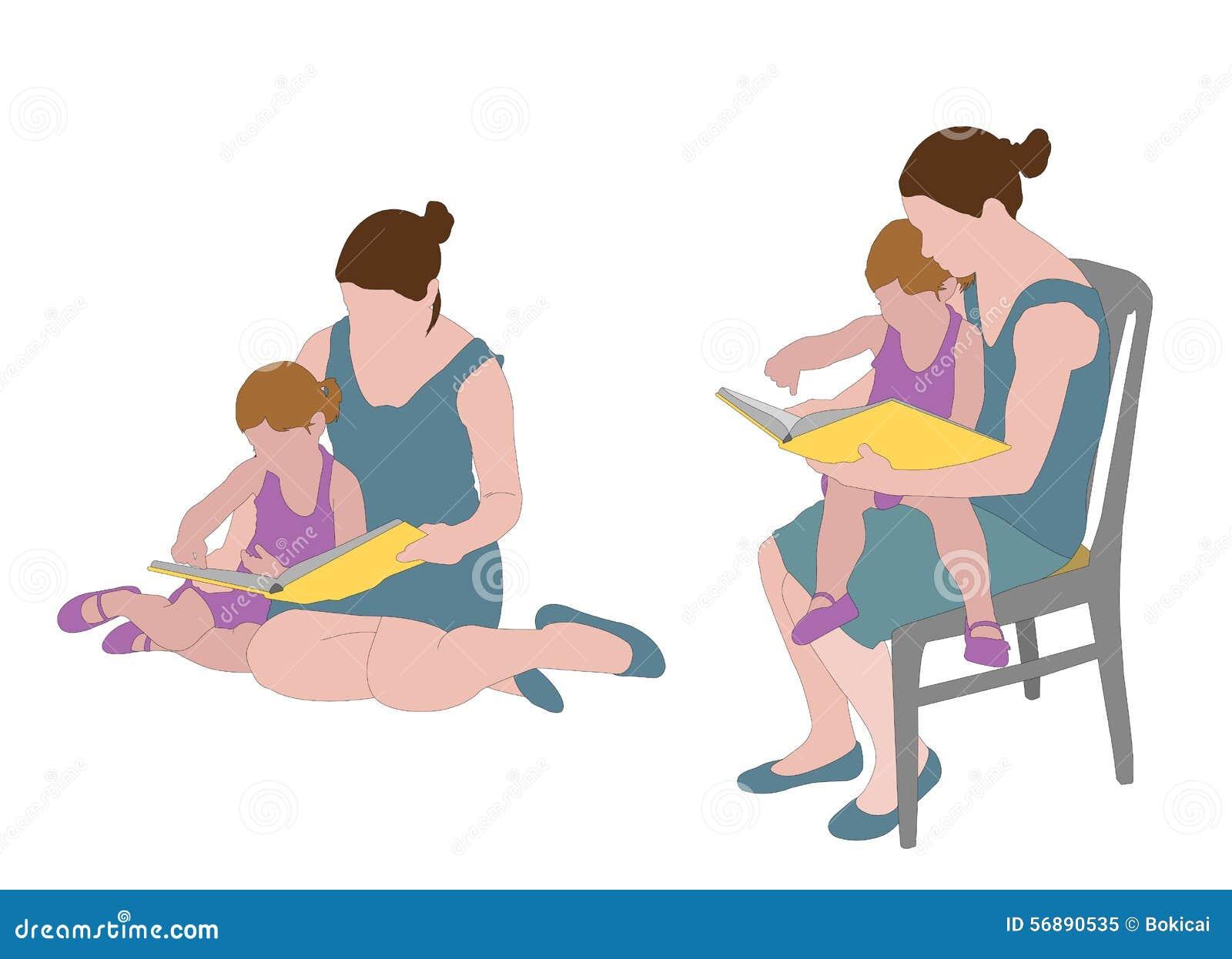 Libro di lettura della madre al bambino