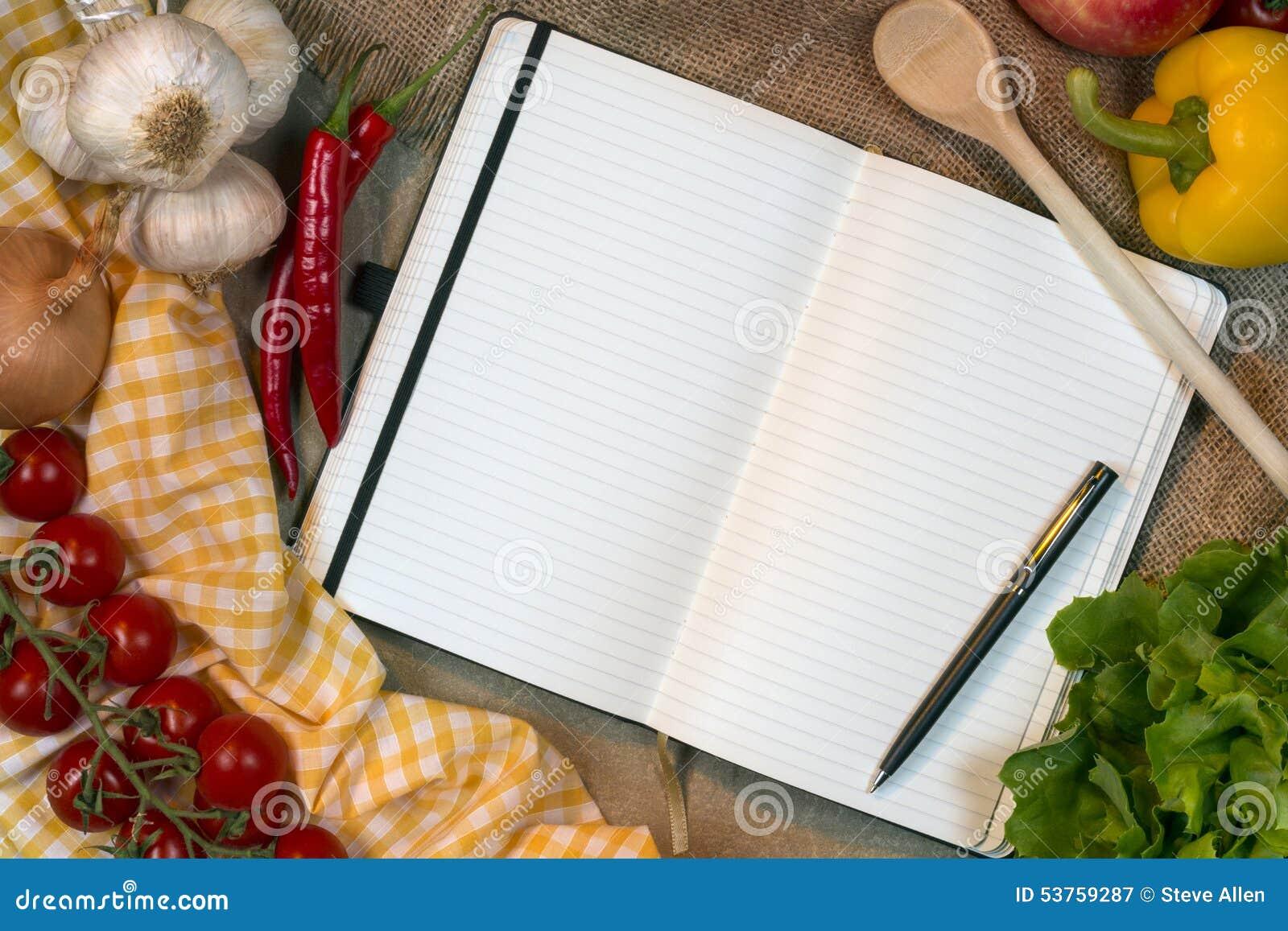 Libro di ricetta - spazio per testo