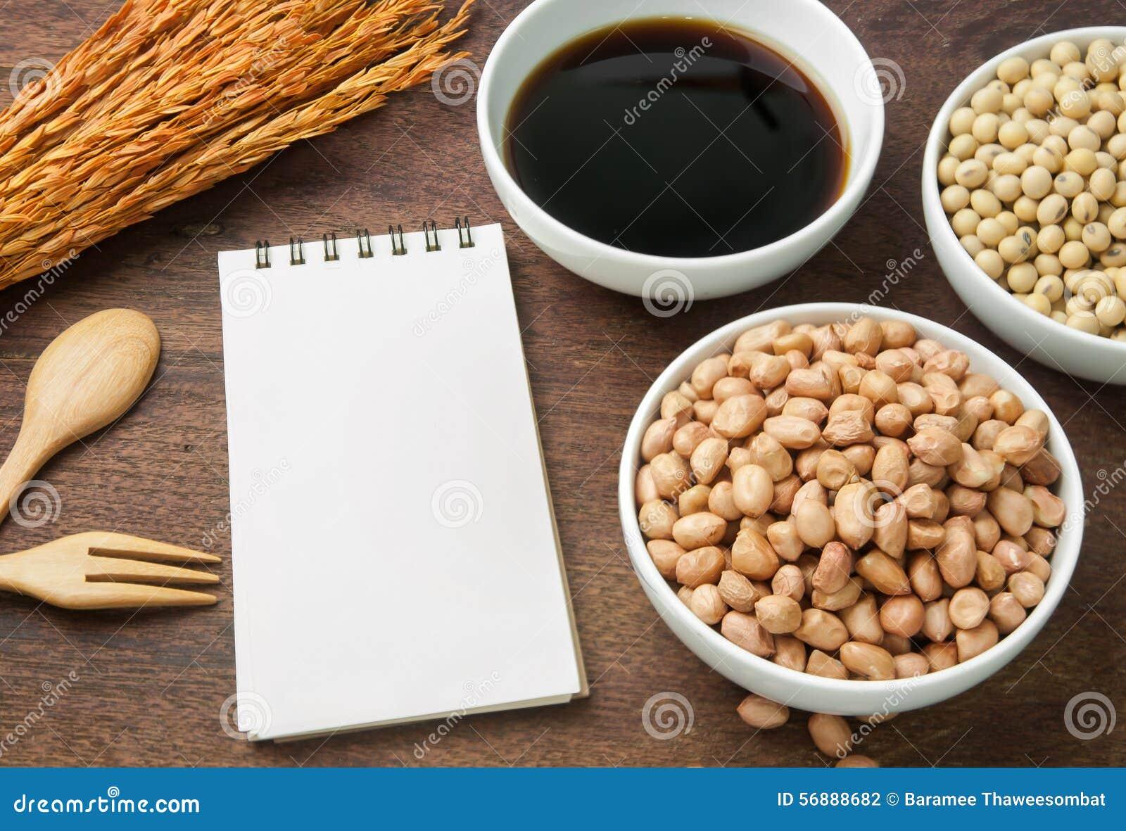 Libro ed ingrediente di ricetta