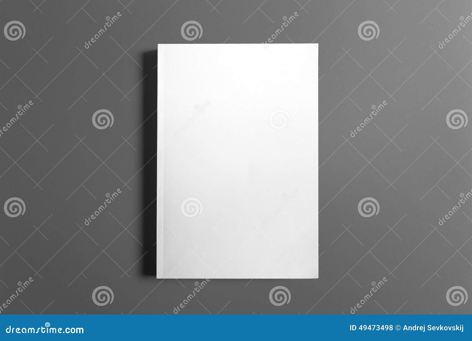 Libro en blanco aislado en gris