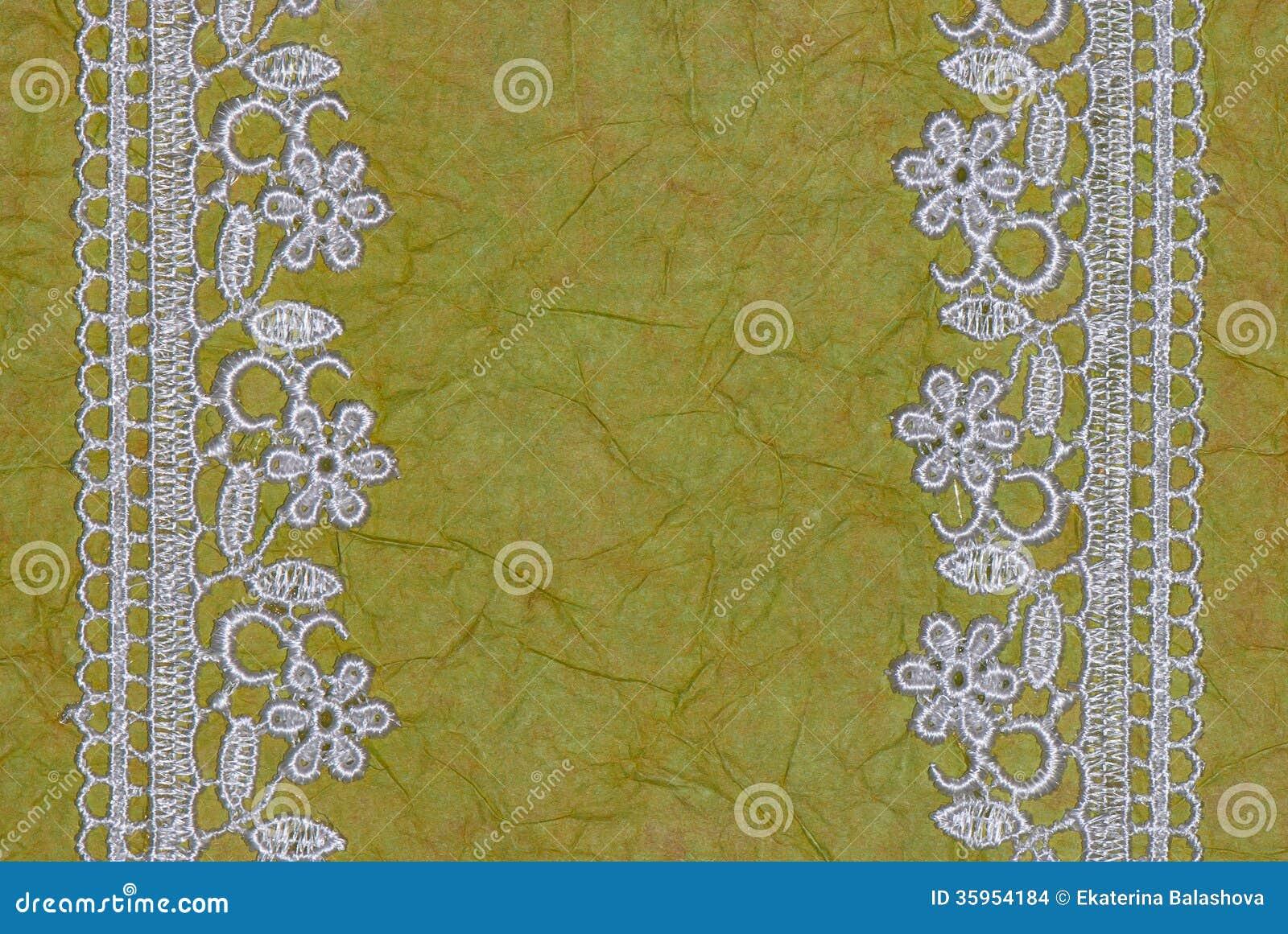 Libro Verde y cordón. fondo