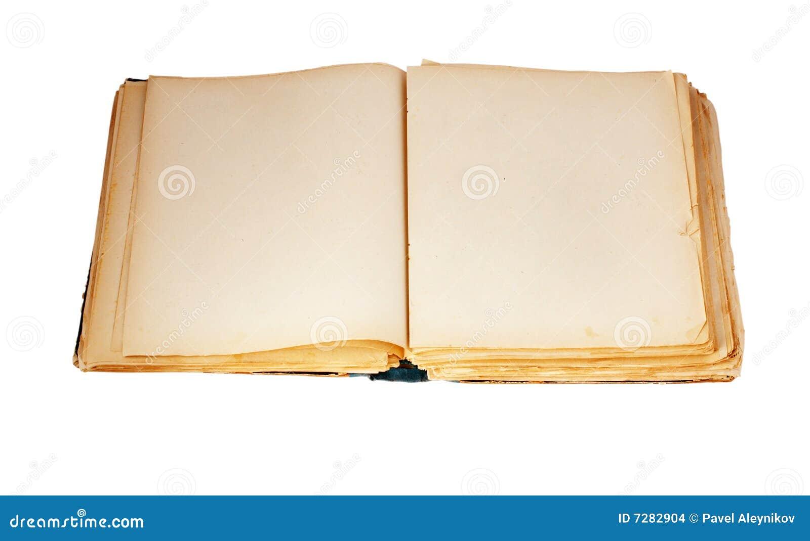 Libro viejo en el fondo blanco