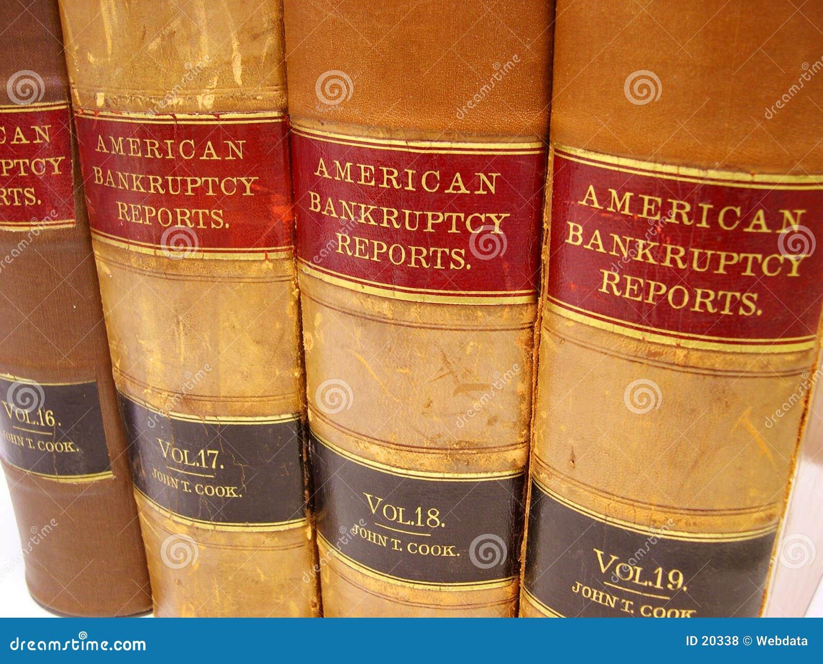 Libros de ley de bancarrota