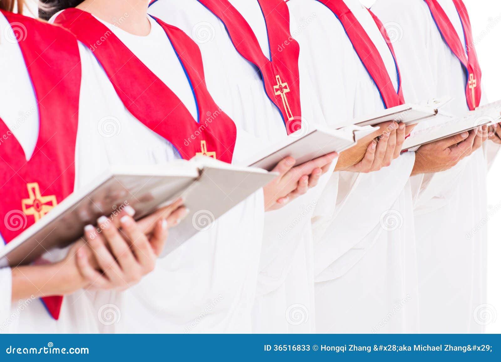 Libros del himno del coro de la iglesia