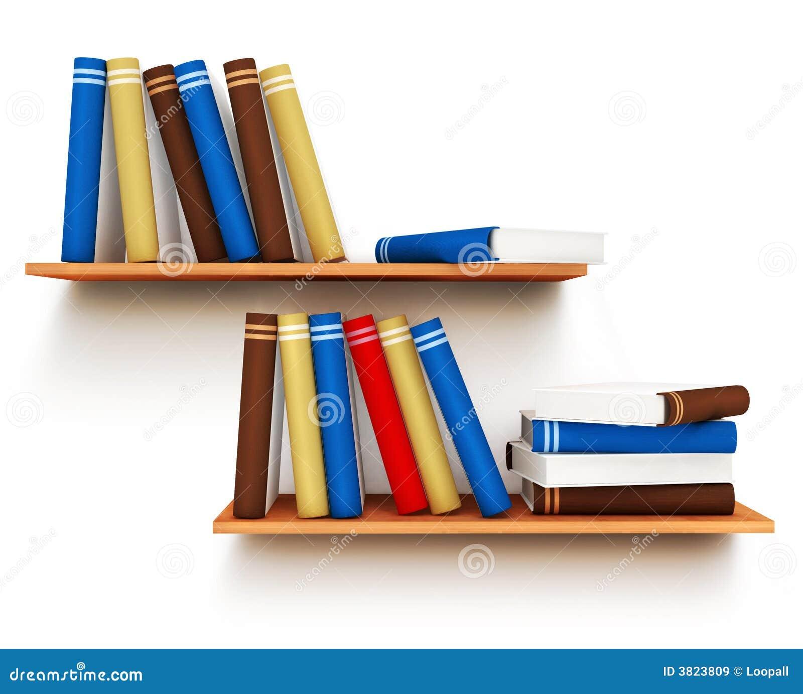 Libros en el estante im genes de archivo libres de - Estantes para libros ...