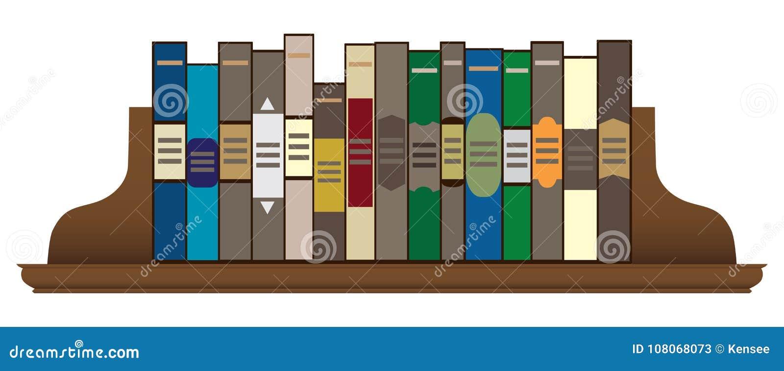 Libros en un estante