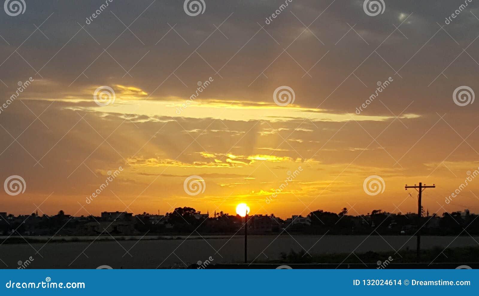 Libysk solnedgång