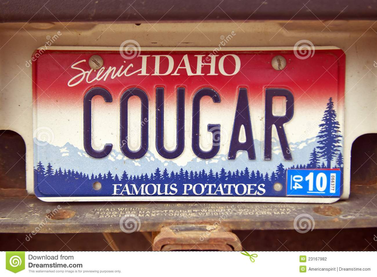 License Plate In Idaho Editorial Photography Image 23167982