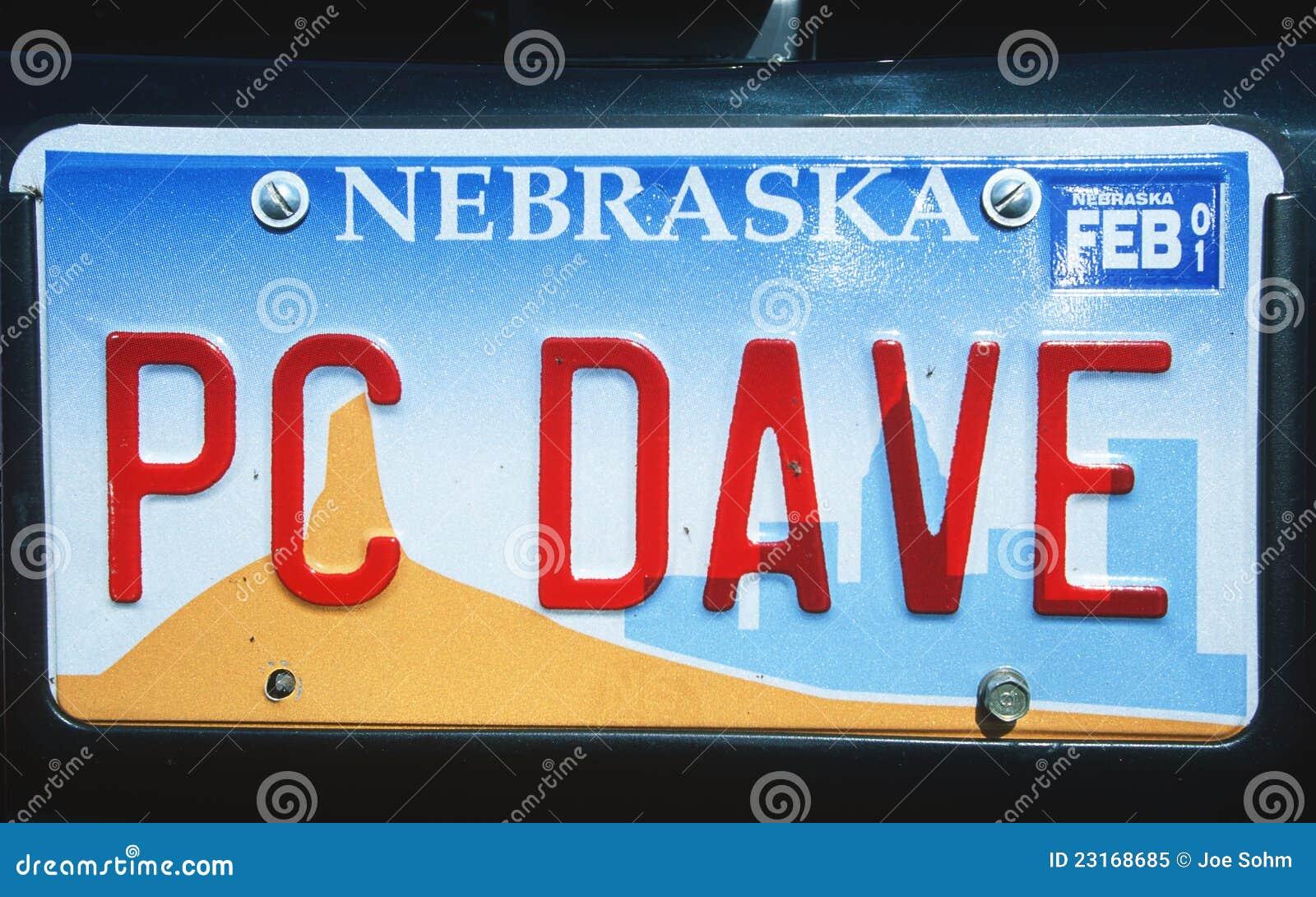 License Plate in Nebraska editorial image. Image of plate - 23168685