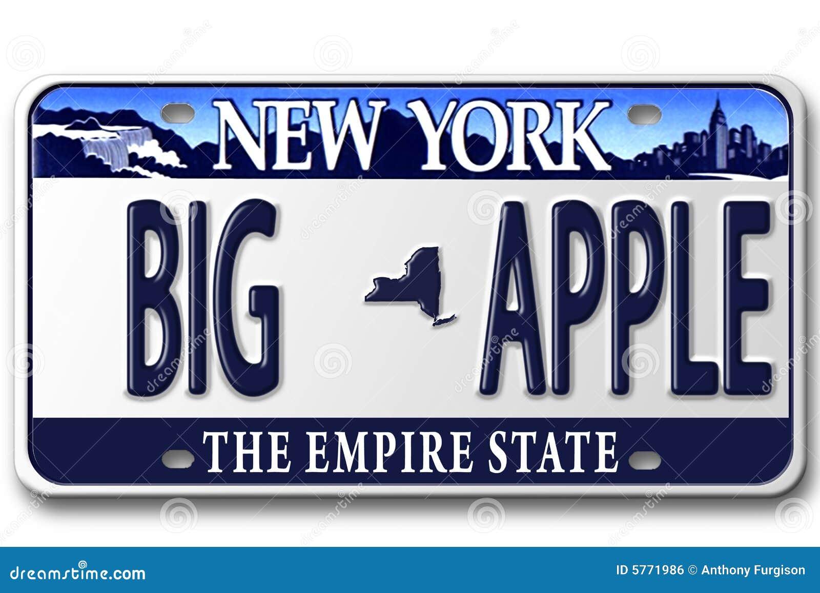License Plates NY Royalty Free Stock Image
