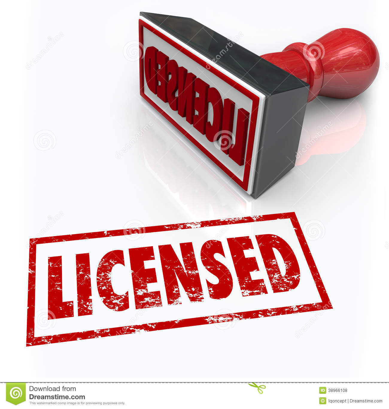 Licensed Stamp Ficial Authorized Certified Stock