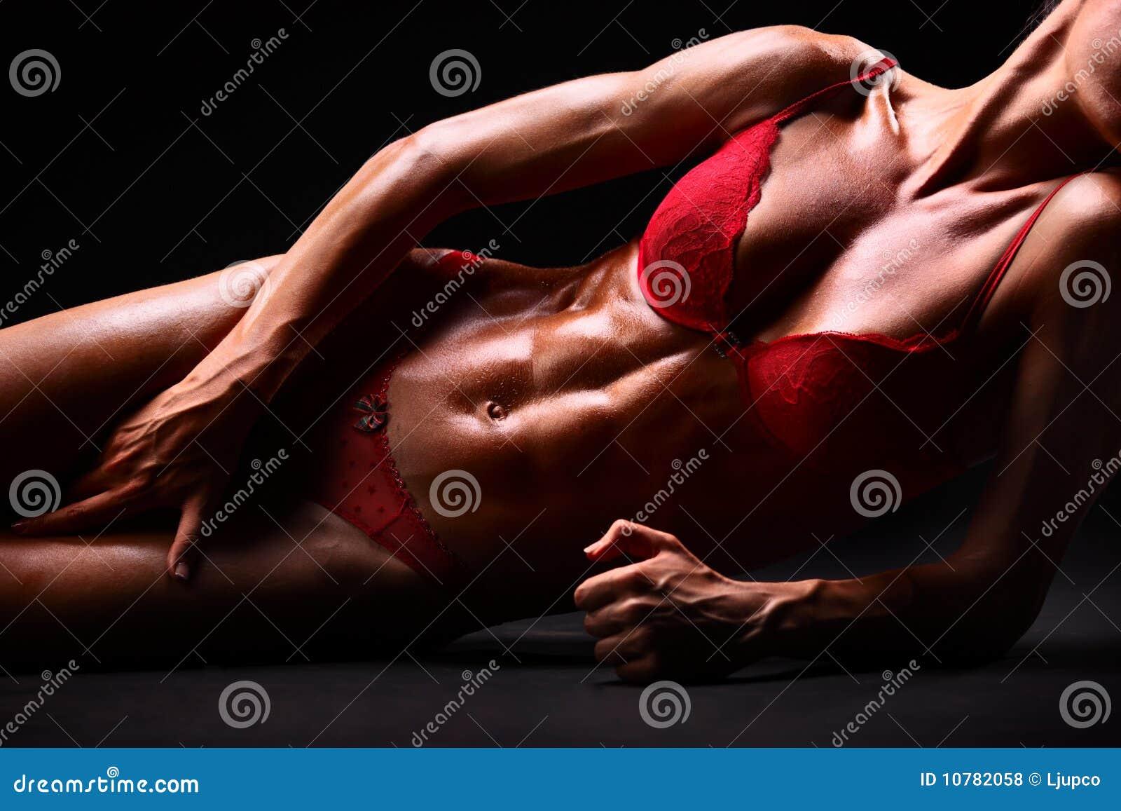 Lichaam van een sexy jonge vrouw in ondergoed