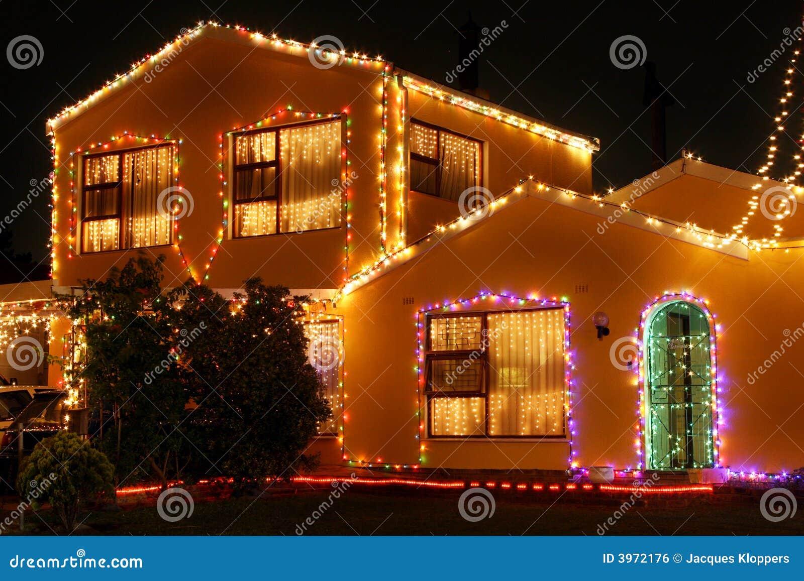 Licht huis 1 van Kerstmis