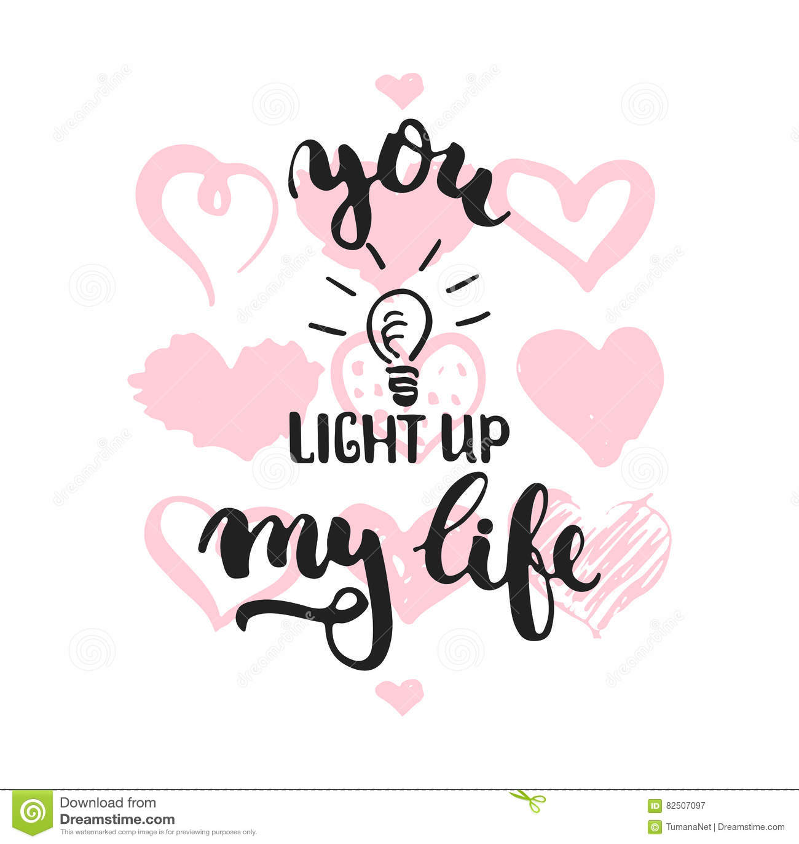 Licht U Omhoog Mijn Leven Hand Getrokken Die Het Van