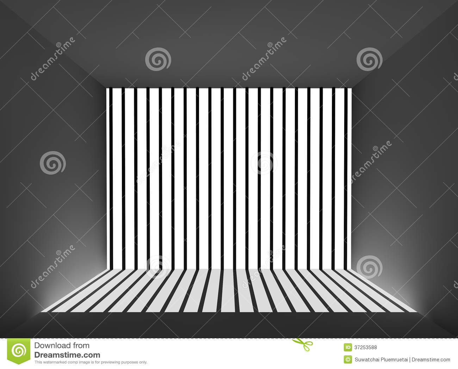 Licht und Schatten im Gefängnisraum