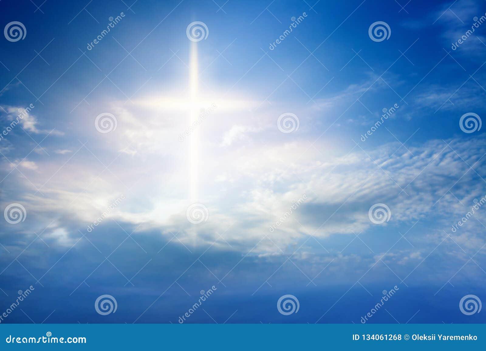 Licht van hemel De achtergrond van de godsdienst Jesus in de hemel