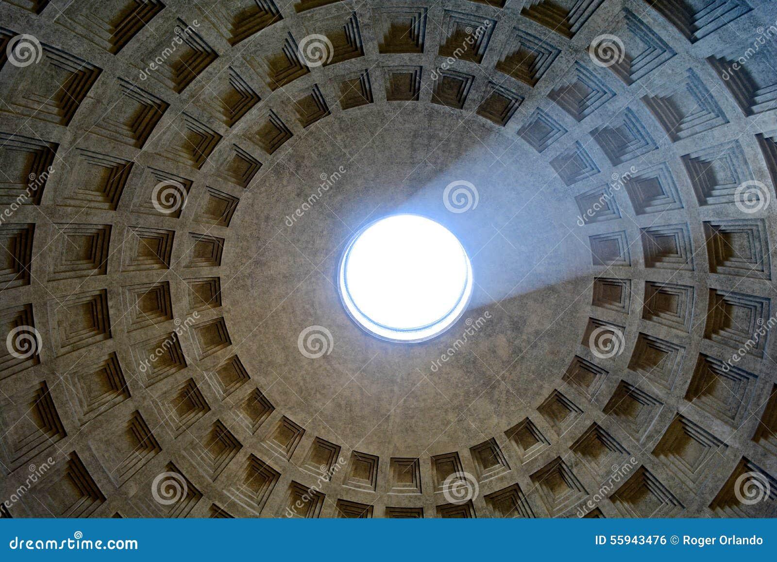 licht von der decke pantheon rom stockfoto bild 55943476. Black Bedroom Furniture Sets. Home Design Ideas