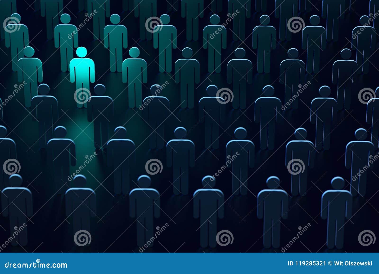 Lichtblauw silhouet van een persoon als symbool van vrijheid en bescherming De leider van veilige technologieën het 3d teruggeven
