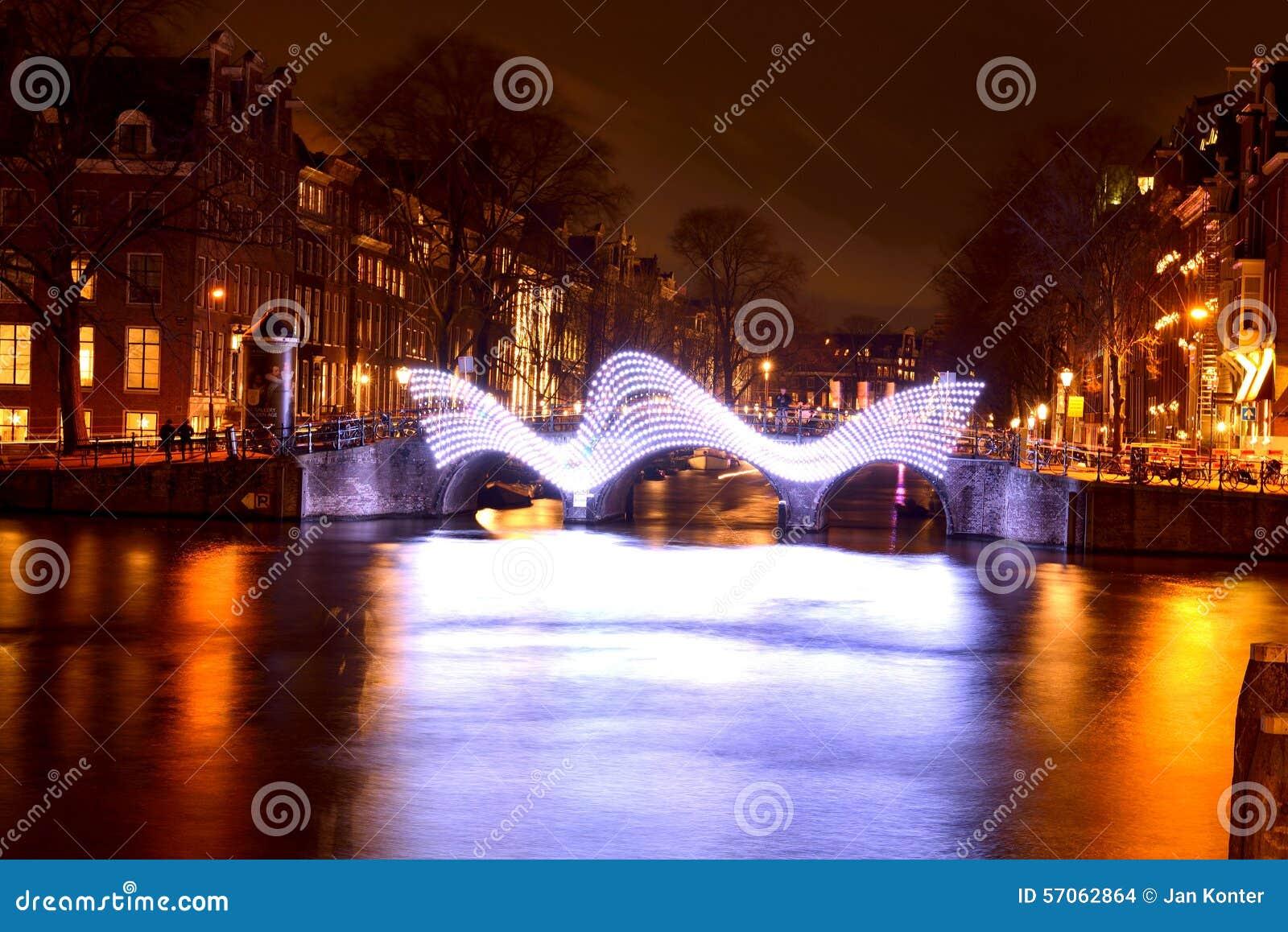 Lichte Brug, licht festival Amsterdam, Holland