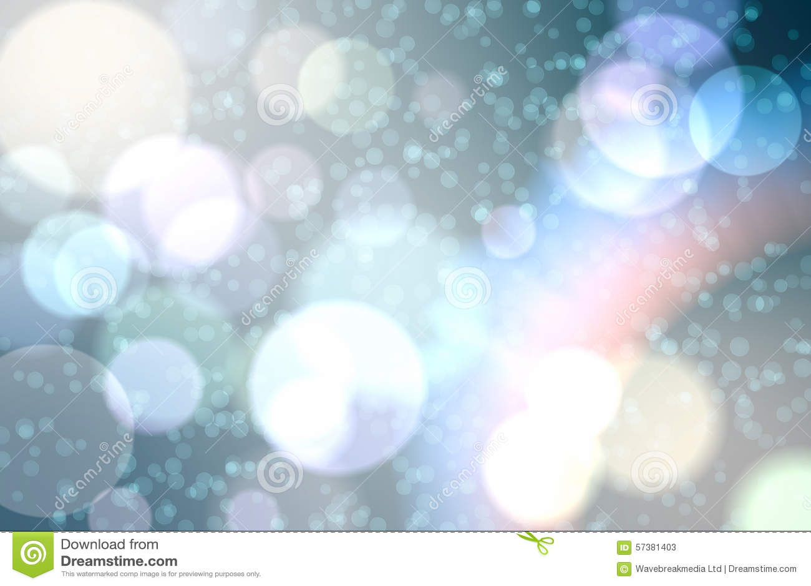 Lichte gloeiende punten op blauw