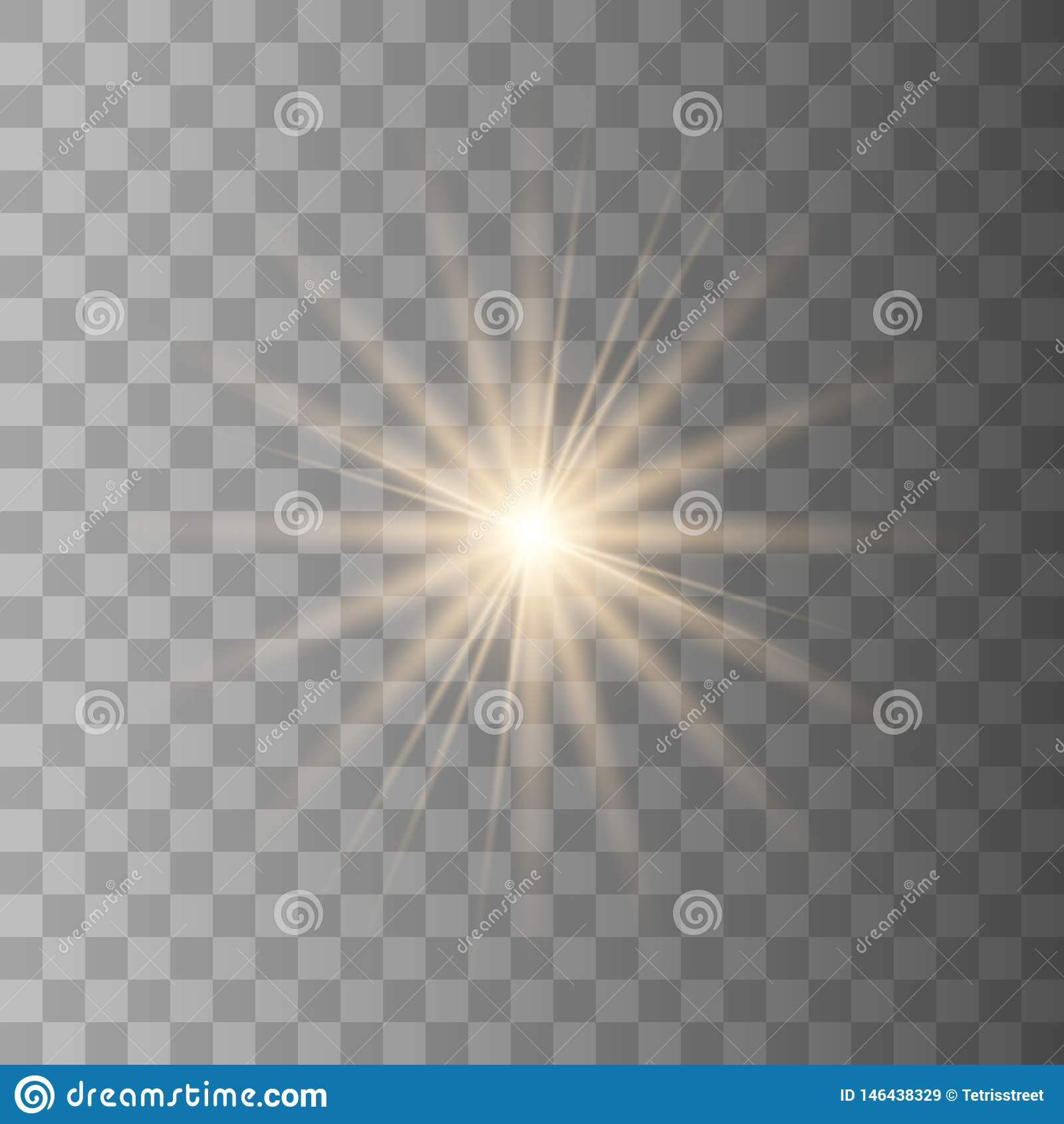 Lichteffekt des Gl?hens