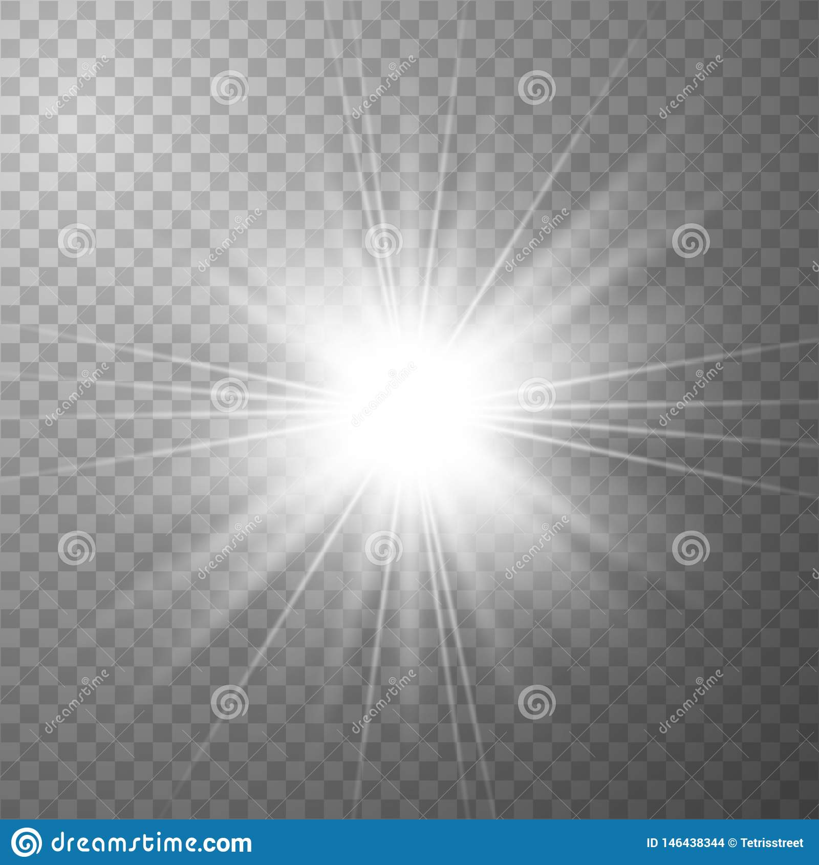 Lichteffekt des Wei?gl?hens
